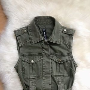 Lord &Taylor Design lab utility army green vest XS
